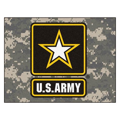 army rug fanmats u s army 2 ft 10 in x 3 ft 9 in all rug 6971 the home depot