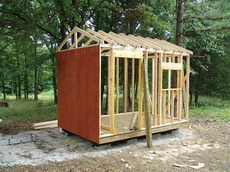 Sheathing A Shed by Storage Shed