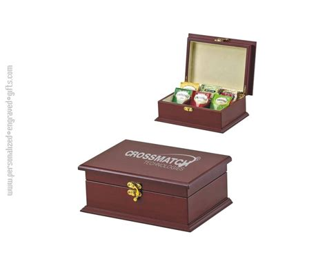 personalized tea boxes custom engraved