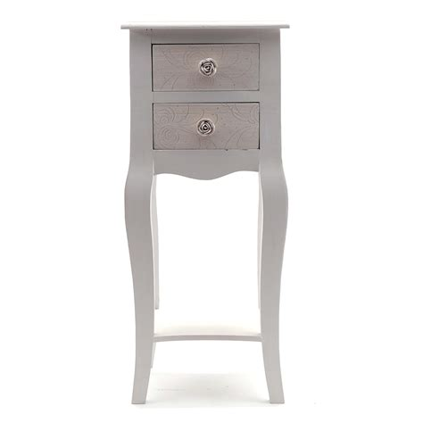 telephone table with drawers design telephone table quot sissy quot 2 drawers antique white