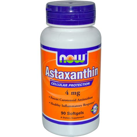 Astaxanthin Detox Brain by Now Foods Astaxanthin 4 Mg 90 Softgels Iherb