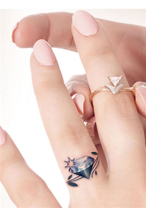 diamond tattoo with initials 42 wedding ring tattoos that will only appeal to the most