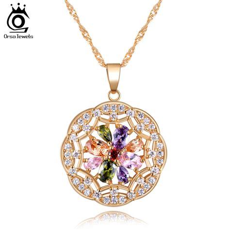 Arrows Zirconium 18k Gold Plated With Austrian luxury 18k gold plated circle plate pendant with aaa