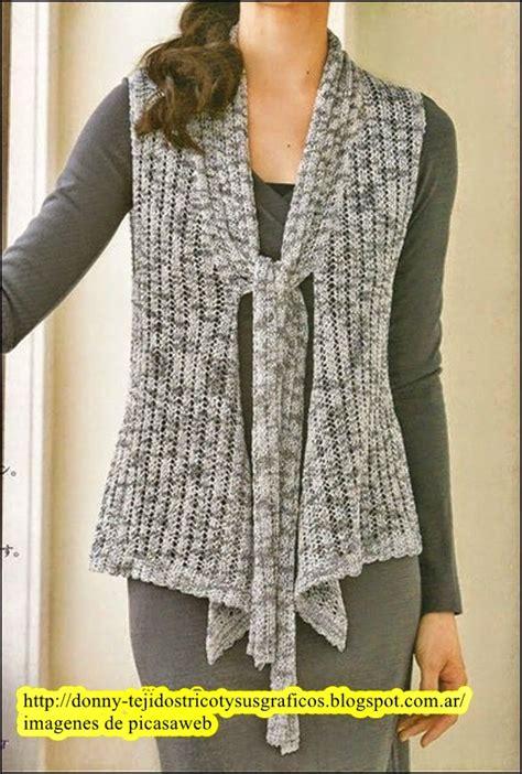 fotos de chalecos tejidos tejidos a dos agujas tricot patrones graficos todo