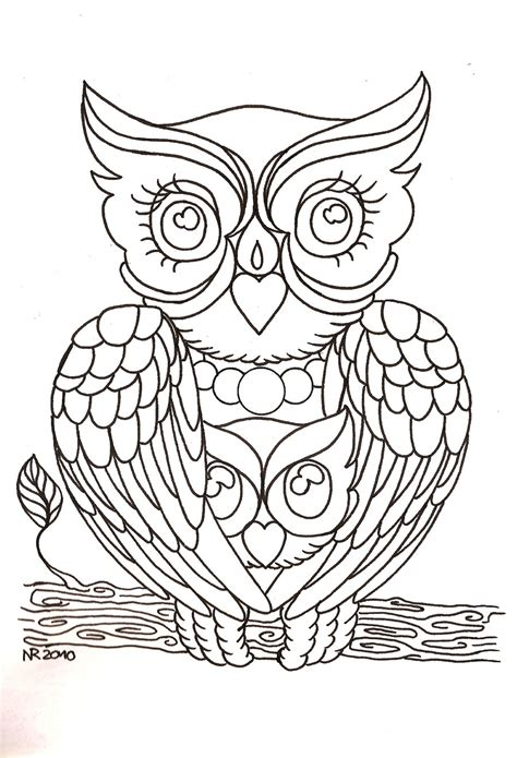 owl tattoo outline new traditional coloring pages
