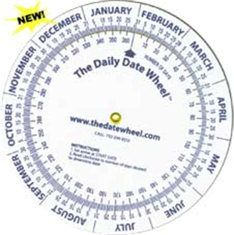 Calendar Calculator Court Daily Or Weekly Date Planning Calculator The Date Wheel