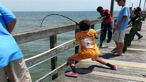 pier j fishing giant stingray fishing from oak island yaupon pier