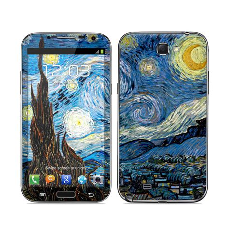 Vans Samsung Galaxy Note 2 Custom samsung galaxy note ii skin starry by vincent gogh decalgirl