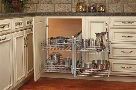 blind corner kitchen cabinet shelves pantry design details