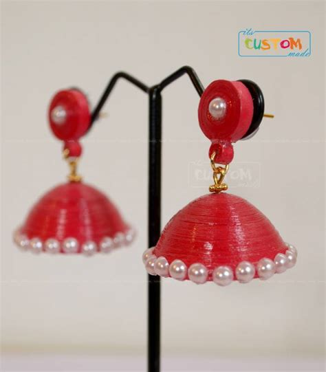 Jhumkas With Paper - buy quilled paper jhumka