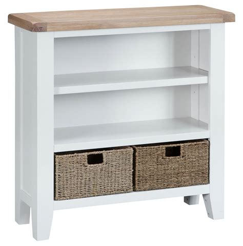 Woodbridge Small Wide White Bookcase Oak World Wide White Bookcase