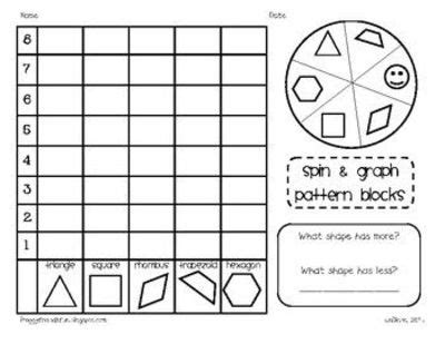 pattern block smartboard activities students will sort tally and graph pattern blocks with