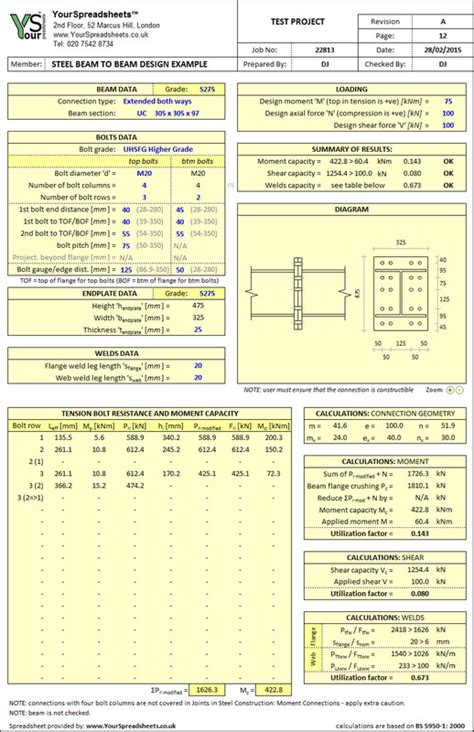 portal frame design xls steel spreadsheets