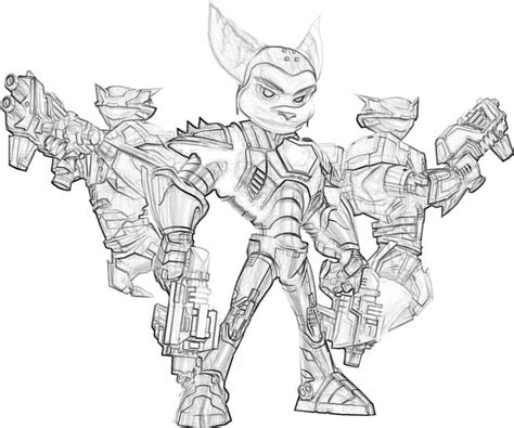 ratchet and clank free coloring pages