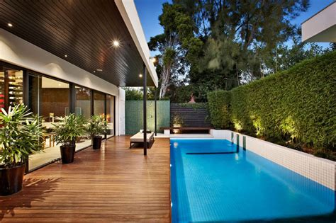 pool area ideas indoor outdoor house design with alfresco terrace living area modern house designs