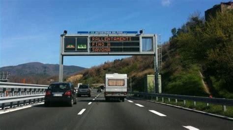code autostrada dei fiori traffico per ponti e settimana melgrati quot realizzare