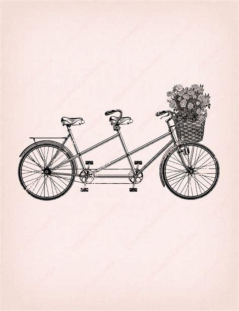 retro drawing vintage tandem bicycle illustration www pixshark com