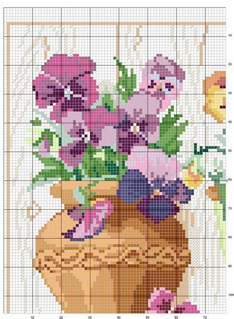 fiori a punto croce schemi punto croce fiori fiori idea immagine