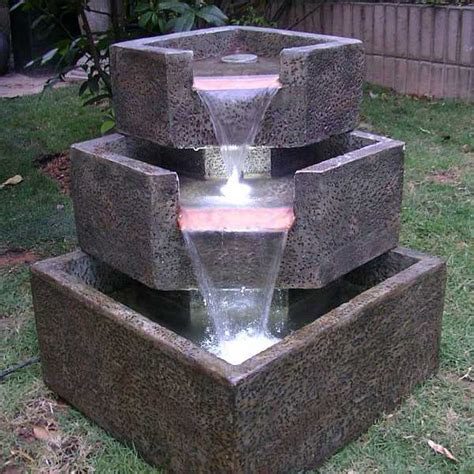backyard fountains cascadia falls electric corner fountain 46200