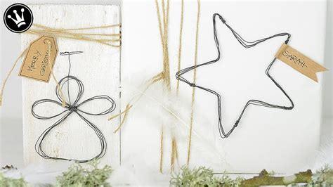 deko aus draht selber machen diy weihnachtsdeko selber machen engel und aus