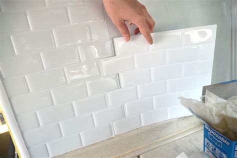 sticky backsplash tiles peel and stick tile in a rv this would be great