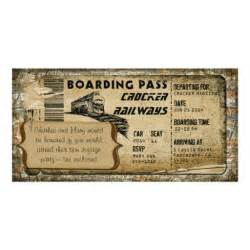 vintage boarding pass personalized photo card zazzle