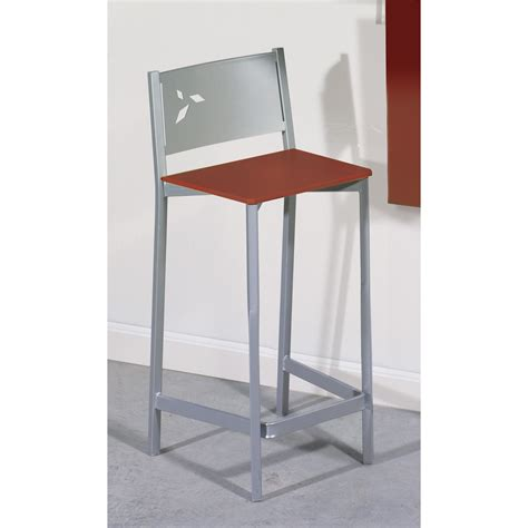 taburete alto taburete alto de cocina en aluminio y polipiel dkg
