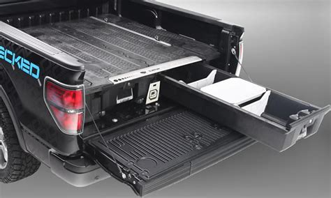 truck bed storage systems decked truck bed storage system snoriders