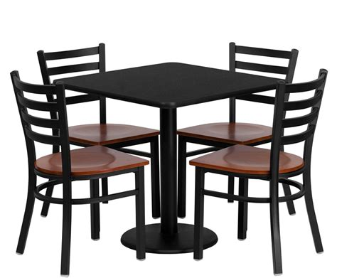 breakroom table and chairs btod 30 quot square top breakroom table w 4 chairs