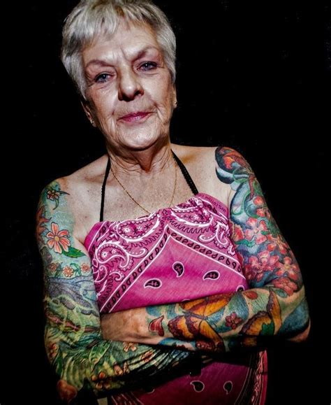 old lady with tattoos 1000 images about never for that on