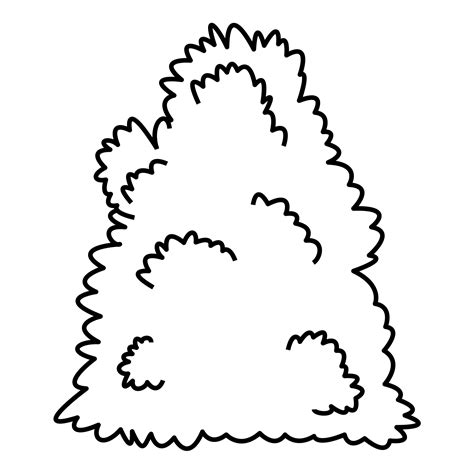 Coloring Pages Plants And Fungi Free Downloads Coloring Page Bush