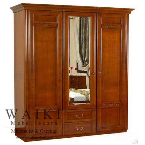 Lemari Kayu Tiga Pintu lemari pakaian bendosari pintu 3 lemari pakaian kayu jati grade a