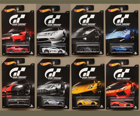 Hotwheels Gran Turismo Lamborghini Veneno Hw Wheel wheels 2016 gran turismo complete set of 8 cars