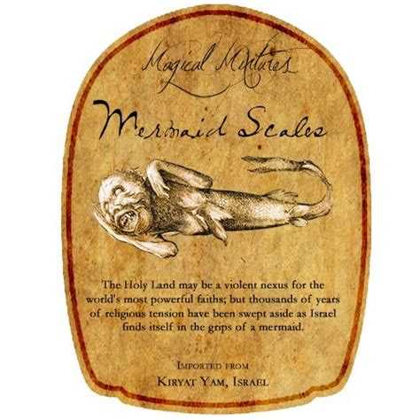 printable crown royal label mermaid scales potion bottle label fitted for crown royal