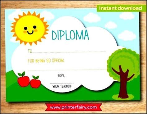 kindergarten graduation certificate template preschool graduation or kindergarten diploma certificate