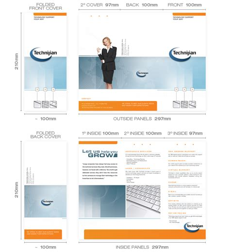 Tri Fold Brochures Design Sles Templates Information Brochure Mailer Template