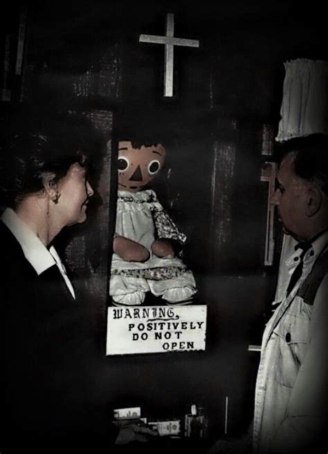 annabelle doll locked up the haunted annabelle doll lorraine