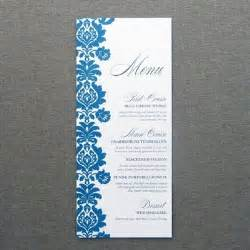 Free Printable Menu Cards Templates by Menu Card Template Rococo Design Print