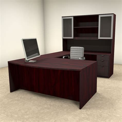 Executive U Shaped Desk 5pc U Shaped Modern Contemporary Executive Office Desk Set Of Con U28