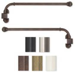 Swing Arm Rods For Curtains Swing Arm 14 To 24 Inch Adjustable Curtain Rod Contemporary Curtain Rods By Overstock