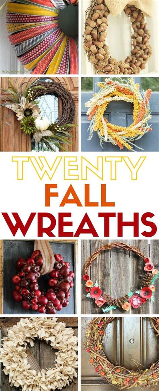 easy wreaths  fall autumn home craft