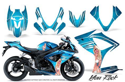 Suzuki Gsxr 600 Decals Suzuki Gsxr Gsx 600 750 2006 2007 Graphic Kits Creatorx