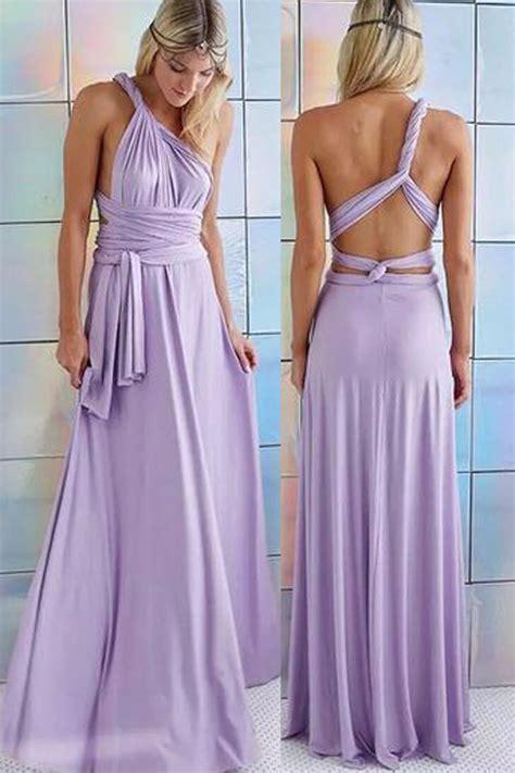 light purple lavender crossed backless pleated convertible maxi dress dresses