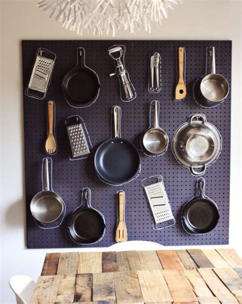pegboard ideas kitchen 40 clever storage ideas for a small kitchen