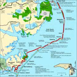 outer banks scenic byway map america s byways