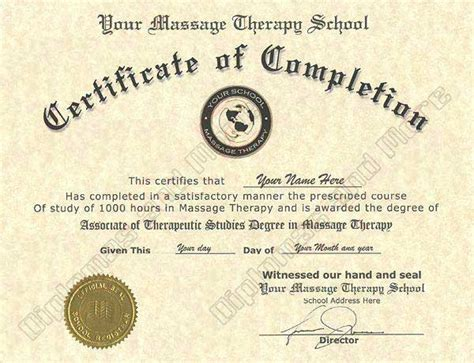 get fake massage therapy certificate online diplomas and