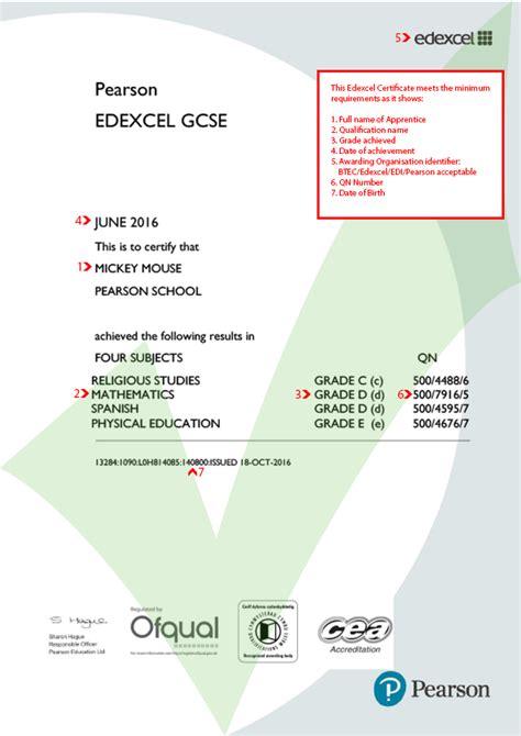 gcse certificate template edexcel gcse certificate new ace website