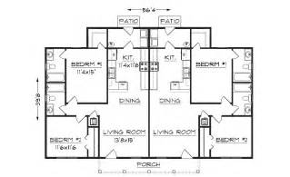 Floor Plans For Duplexes by Duplex Plan J942d