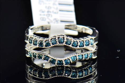 blue solitaire engagement ring enhancer wrap