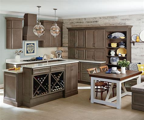 homecrest kitchen cabinets gray cabinets in a casual kitchen homecrest